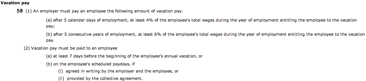 Vacation pay