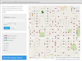Auto crime map