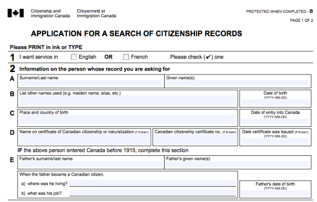App for a search of cit records