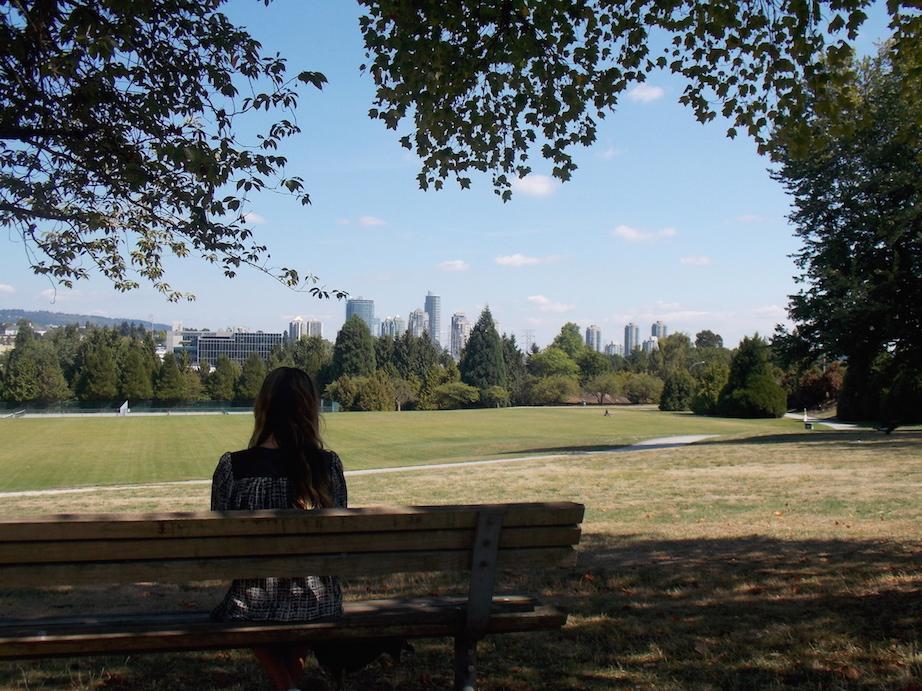 Rupert Park bench view Vancouver