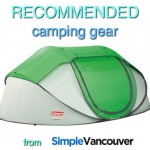 Recommended camping gear